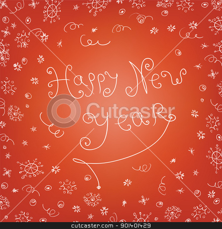 Handwritten quirky new year background stock photo, Handwritten quirky new year background by pashabo