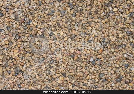 Beige Gravel stock photo, beige gravel small stones on the floor by Henrik Lehnerer