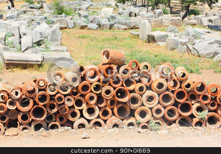 Antique ruins stock photo, Antique ruins in a city in the Efes, Turkey by Artamonov Yury