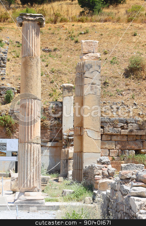 Antique columns stock photo, Antique columns in a city in the Efes, Turkey by Artamonov Yury