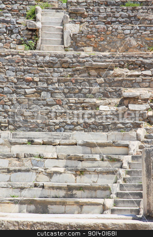 Steps of an antique amphitheater stock photo, Steps of an antique amphitheater in a city in the Efes, Turkey by Artamonov Yury