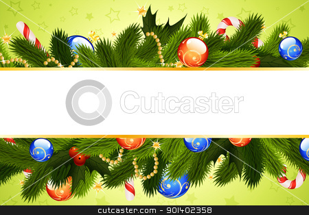 Grunge Christmas background stock vector clipart, Grunge Christmas background with Christmas tree stars and balls for your design by Vadym Nechyporenko