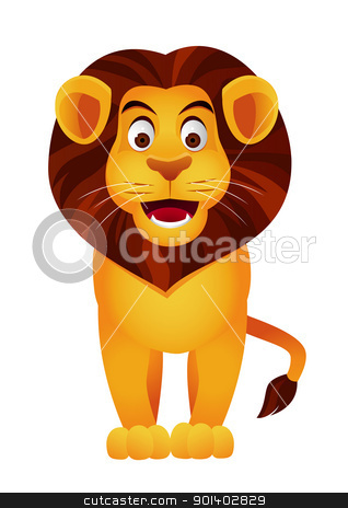 Lion Cartoon Character on Lion Cartoon Character Vector Illustration   Download Africa Royalty