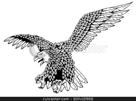 Eagle stock vector clipart, Vector illustration of detailed eagle by Surya Zaidan