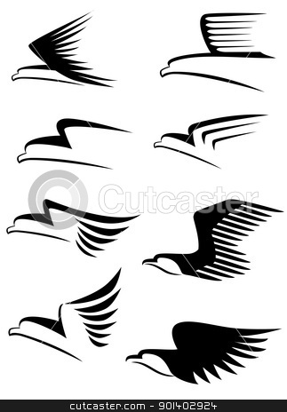 Eagle symbol stock vector clipart, Eagle symbol by Surya Zaidan