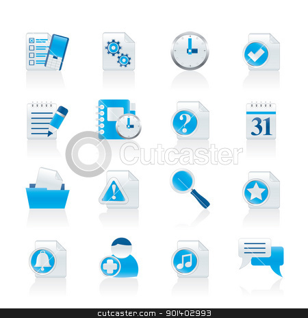Organizer, communication and connection icons stock vector clipart, Organizer, communication and connection icons - vector icon set by Stoyan Haytov