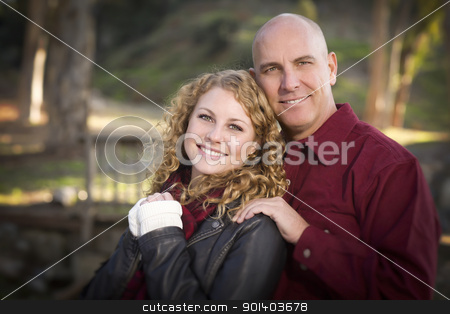 Loving Daughter and Father Portrait stock photo, Loving Daughter and Father Portrait in the Park. by Andy Dean