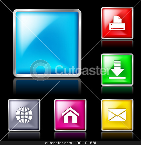 Glass Shapes, button  stock photo, Internet Shapes, button. Isolated on black background by dvarg
