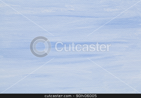 blue and white canvas texture stock photo, light blue and white abstract texture painted on artist canvas by Marek Uliasz