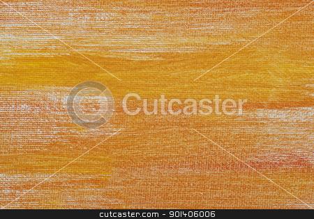 orange and yellow canvas texture stock photo, orange and yellow abstract texture painted on  white artist canvas by Marek Uliasz