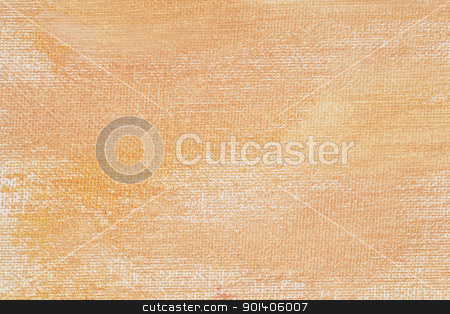 peach color canvas texture stock photo, delicate yeloow and orange (peach color)  abstract texture painted on white artist canvas by Marek Uliasz