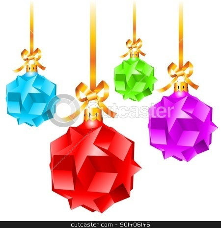 Abstract colorful Christmas decorations stock photo, Abstract colorful Christmas decorations.  Illustration on white background  by dvarg