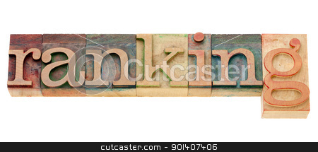 ranking word in letterpress type stock photo, ranking - isolated word in vintage wood letterpress type by Marek Uliasz