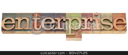 enterprise word in letterpress type stock photo, enterprise - isolated word in vintage wood letterpress printing blocks by Marek Uliasz