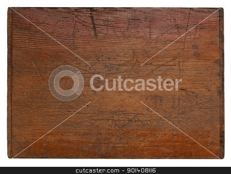 vintage wood board stock photo, old wooden board with deep scratches, grain texture and a lot of character, isolate don white by Marek Uliasz