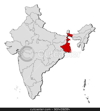 Bengal Map India Map of India West Bengal