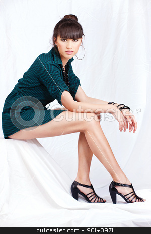 ... pretty legs stock photo, Handsome woman with pretty legs by iMarin