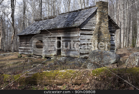 Historic house in Smoky Mountains  stock photo, Historic house in Great Smoky Mountains National Park  by Henryk Sadura