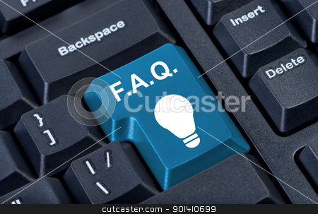 Button with icon lamp, F.A.Q. internet concept. stock photo, Button with icon lamp, F.A.Q. internet concept. by Borys Shevchuk