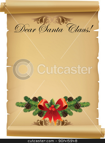 Letter for Santa stock vector clipart, Illustration Letter for Santa Claus by Rimantas Abromas