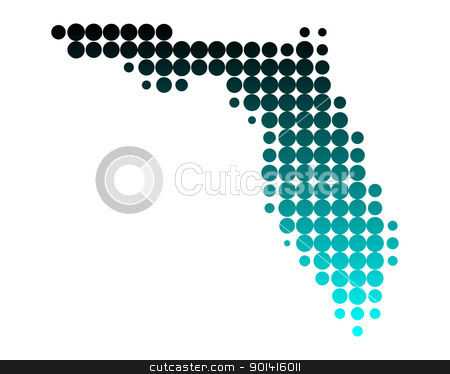 Map of Florida stock photo, Map of Florida by Robert Biedermann