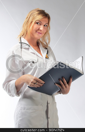 The young girl the doctor stock photo, The young sexual and beautiful girl the doctor by Artamonov Yury