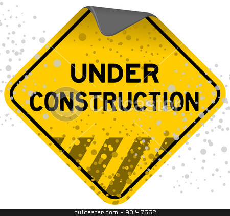 Dusty Under Construction stock vector clipart, Grunge Sign full of dust and scratches with text Under Construction by Vitezslav Valka