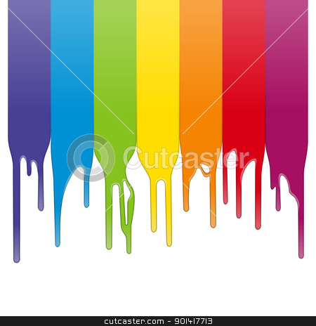 Vector Color Paint stock vector clipart, Color stripes in vector format isolated on white background by Vitezslav Valka