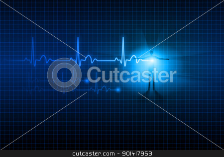 Abstract ECG stock photo, Abstract Medical background. ECG. Illustration for design.  by dvarg