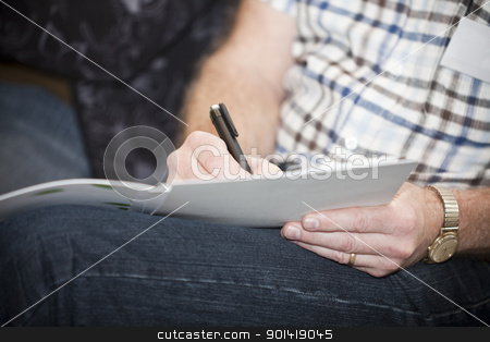 Writing close up stock photo, Close up of an human writing by Anne-Louise Quarfoth