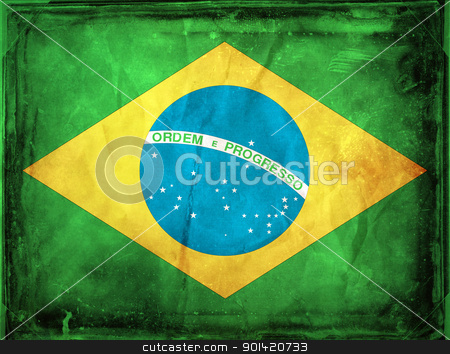 Brazil stock photo, Grunge flag series -  Brazil by sutike