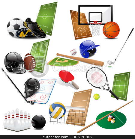 Sport icons  stock vector clipart, Vector illustration of different sport icons by Vladimir Gladcov