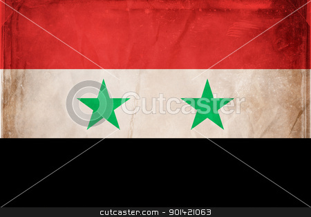 Syria stock photo, Grunge flag series -  Syria by sutike
