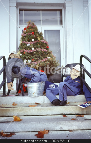 Mailmen stock photo, Mail mail tired from delivering all that holiday mail and packages. by OSCAR Williams