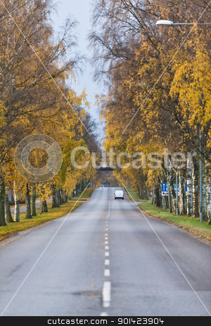 Colorfull Autumn stock photo, Colorfull Alley at Autumn by Anne-Louise Quarfoth
