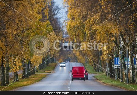 Colorfull alley stock photo, Colorfull Alley at Autumn by Anne-Louise Quarfoth