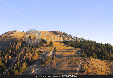 In the mountains stock photo, Ski center in early autumn. by Primus