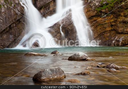 Cameron Falls stock photo, Cameron Falls in Waterton Lakes National Park, Alberta, Canada by Bryan Mullennix