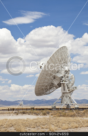 Radio Telescope stock photo, Radio Telescope, Very Large Array, New Mexico by Bryan Mullennix