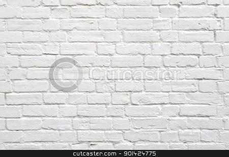 White brick wall stock photo, White brick wall background by Dutourdumonde