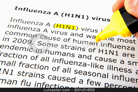 Images of the H1N1 Influenza Virus stock photo, Images of the H1N1 Influenza Virus by Nenov Brothers Images