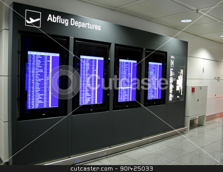departure display panel at airport stock photo, departure display panel at airport by Paul Prescott