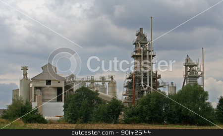 chalk factory stock photo, wide angle of a chalk factory by Paul Prescott