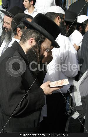 Lag Ba'omer pilgrims stock photo, Lag Ba'omer pilgrims, meron, israel by Paul Prescott