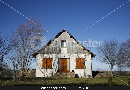 house stock photo, Traditional house in garden in the middle of the countryside by Paul Prescott