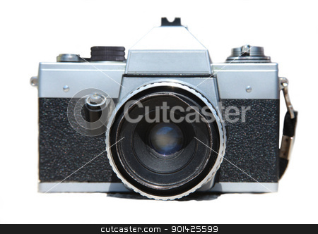 old praktica camera stock photo, old Praktica camera isolated on white by Paul Prescott