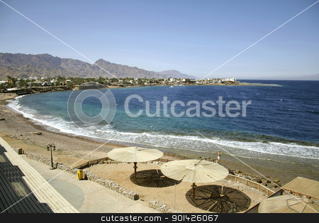 red sea  stock photo, red sea beach resort, sinai, egypt by Paul Prescott