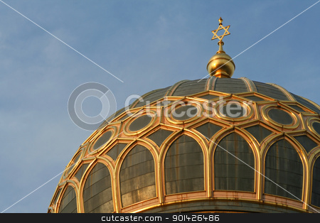 star of david  on top of the synagogue stock photo, star of david  on top of the synagogue in berlin, germany by Paul Prescott