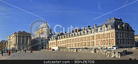 panoramic view of versailles stock photo, wide panoramic view of versailles, paris, france by Paul Prescott