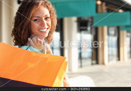 young woman shopping stock photo, young woman shopping by photography33